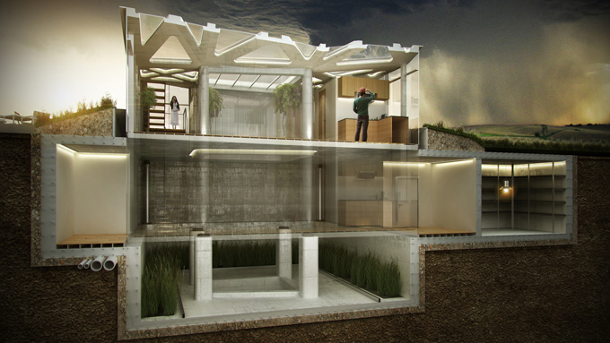 10 Design - Erupting Stability: Tornado Proof House
