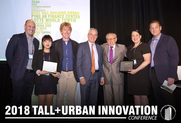 10 DESIGN together with Studio Libeskind and Rogers Stirk Harbour + Partners were commended by the jury at the CTBUH Awards 2018 in Chicago